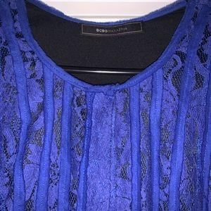 Royal blue bcbg semi formal dress